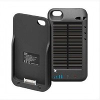 iPhone 4S Solar Powered Battery Charger Case