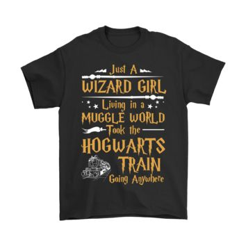 ESB8HB Just A Wizard Girl Living In Muggle World Harry Potter Shirts