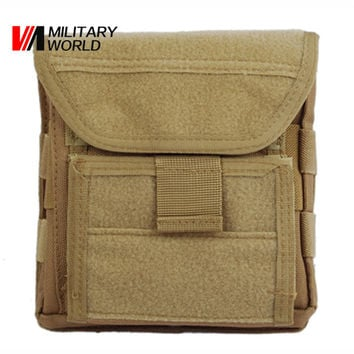 Muti-functional 1000D Molle Men Outdoor Hunting Sports Admin Magazine Storage Tactical Pouch For Air Gun Pistol Holster Bag