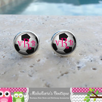 Soccer  Ball Earrings, Soccer Jewelry, Soccerl Accessories, Personalized Soccer,Gifts for Her, Gifts under 10