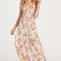 BIllabong - Linger Here Off The Shoulder Maxi Dress | Pina Colada
