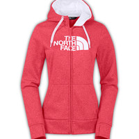 The North Face Half Dome Full Zip Hoodie in Snowcone Red for Women CW61-DFS