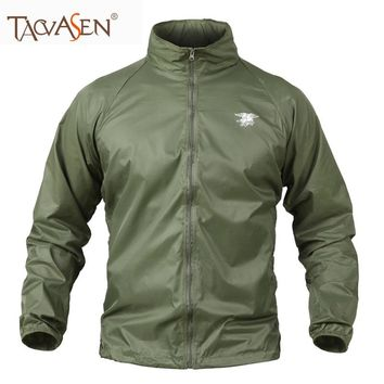 TACVASEN Jackets Men Tactical Military Coat Travelling Training Outerwear Hunting Sun Protection Skin Jacket Running SH-XL-08