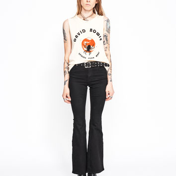 David Bowie Spiders From Mars Muscle Tee - Summer Melon