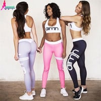 Gagaopt grey 2 piece set women tracksuit 2016 printed aimn sweat suits ropa deportiva mujer women set S0862