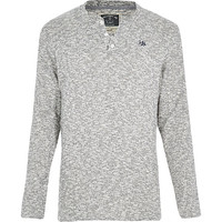 River Island MensGrey Holloway Road grandad top
