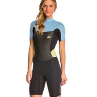 Billabong Women's 2/2mm Synergy Back Zip Spring Suit Wetsuit at SwimOutlet.com - Free Shipping