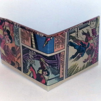 Halloween Half-Off Sale// Comic Book Wallet// Billy Batson transforms into Captain Marvel
