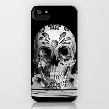 Pulled sugar, day of the dead skull iPhone & iPod Case by Kristy Patterson Design