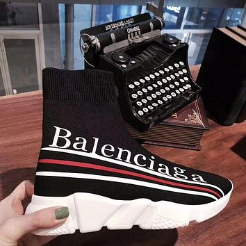 Balenciaga Trending Women Men Personality Comfortable Speed Stretch Knit Socks Shoes I