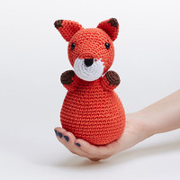 Fox Toy, Fox Stuffed Animal, Fox Plushie, Fox Crochet Toy, Fox Amigurumi, Fox Stuffed Animal Plush