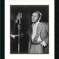 "0-013108>23x27"" William P. Gottlieb Golden Age of Jazz Frank Sinatra Framed Print"
