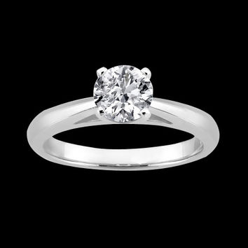 1 carat diamond cathedral setting solitaire ring white gold 14K jewelry new