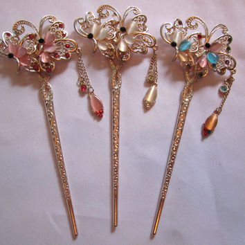 Hair Pins Decorative Hair Accessory Fluttering Butterfly
