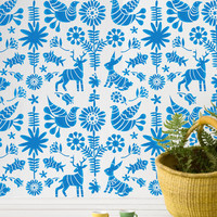 Wall Stencil Kids Room Mexican Otomi Pattern Wall Room Decor Made by OMG Stencils Home Improvements Color Paintings 0055