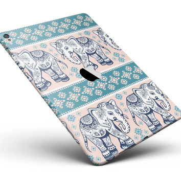 "Walking Sacred Elephant Pattern V2 Full Body Skin for the iPad Pro (12.9"" or 9.7"" available)"
