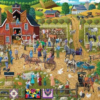 Country Farm 500pc Jigsaw Puzzle