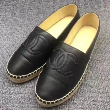 Chanel Fashion Espadrilles For Women Shoes Grey G-TFDXY-XNEDX