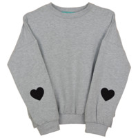 GRAY HEART SWEATER
