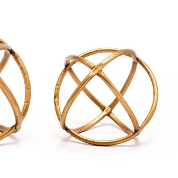 Quattro Set Of 3 Orbs Gold