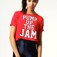 Dolly Pump Up The Jam Cropped Tee