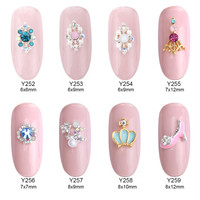 10pcs alloy 3d nail art decoration crown glitter moon star DIY nail manicure jewelry kit supplies Y252~259