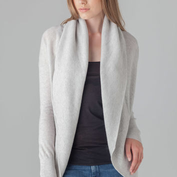 Vince Circle Cardigan in H Snow