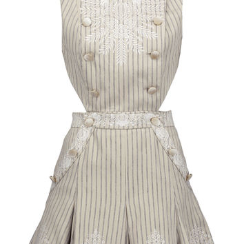 Master embroidered striped twill mini dress | Zimmermann | US | THE OUTNET