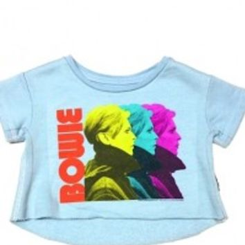 This buttery soft and timeless David Bowie sweatshirt toddler tee, featuring Andy Warhol Pop Art print on front , and finish with asymmetrical hemline.