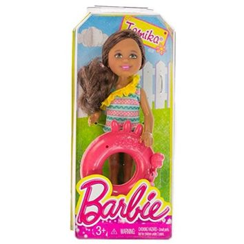 """Tamika w/ Crab Inner Tube: Barbie Chelsea & Friends Pool Collection ~5.25"""" Doll Figure Barbie"""