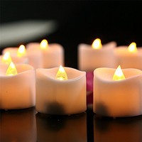 Micandle 12pcs Amber Yellow Flickering Flameless Candles with Timer - 6 Hours on and 18 Hours Off - Battery Operated Candles, Flashing LED Tea Lights for Wedding,party and Birthday Christmas Halloween
