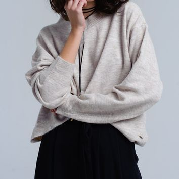 Beige oversized sweater