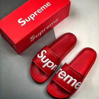 Supreme suprize design Street Beach Couple Fashion Slippers F