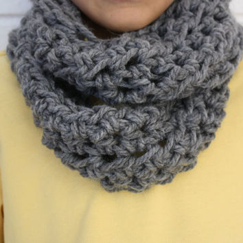 Crocheted Kids Infinity Scarf, Kids Winter Accessory