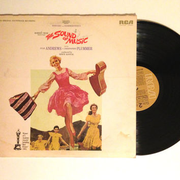 LP Album The Sound Of Music An Original Soundtrack Recording Julie Andrews Vinyl Record 1965 The Hills are Alive