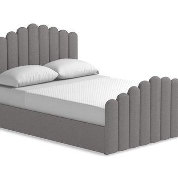 Coco Upholstered Bed From Kyle Schuneman QUEEN in ASH - CLEARANCE