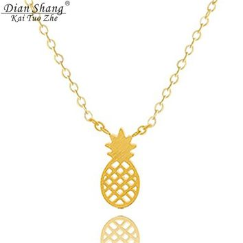 Pineapple Necklaces Pendant Women Hawaii Boho jewellery Friendship Necklace Minimal Ananas Collares Collier Best Friend Gifts