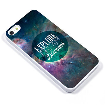 Personalised iPhone Case iPhone 5 iPhone 5s iPhone 5C iphone 4 Samsung Galaxy S3 S4 - explore space galaxy universe discover - p33