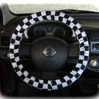 by (CoverWheel) Steering wheel cover for wheel car accessories Chessboard print wheel cover