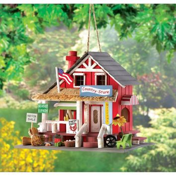 Country Store Birdhouse Clever Detailing Realistic Rustic Country Charm Decor