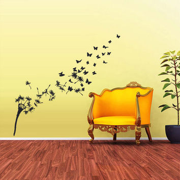 rvz1725 Wall Decal Vinyl Sticker Art Decor Bedroom Flowers Bedroom Dandelion