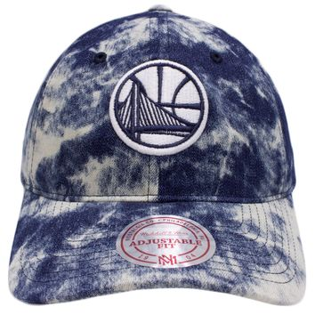 Golden State Warriors Acid Wash Denim Dad Hat