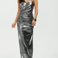 Instant Chic Metallic Maxi Dress