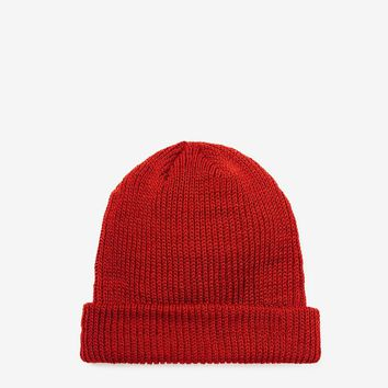 Brushed Basic Beanie in Red