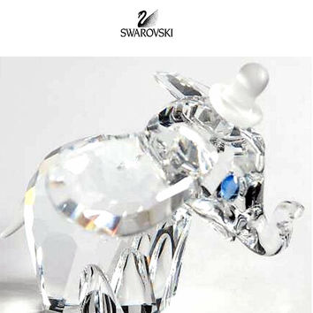 Swarovski Clear Crystal Figurine Disney DUMBO with Blue Eyes #7640NR100001