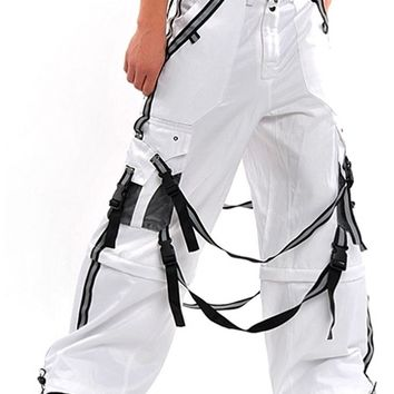 Amok White Hurricane Pants : Ravers Clothing Wide and Phat Pants