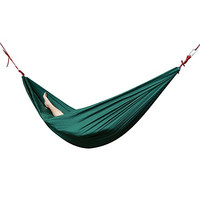 Peacechaos®parachute Nylon Lightweight Portable Double Deluxe Outfitters Hammock: Assorted Bright Colors - Ideal for Camping, Backpacking, Kayaking & Travel (Green)