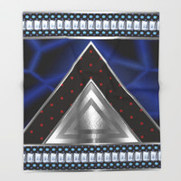 Triangles and Steel Throw Blanket by Octavia Soldani | Society6
