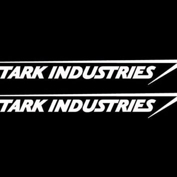 Stark Industries Sticker Vinyl Decal Marvel Iron Man Avengers Car Window x2