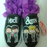 Custom Hand Painted Of Mice and Men Slip On Shoes (Generic Brand Not Vans)